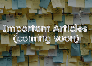 Important Articles(coming soon)